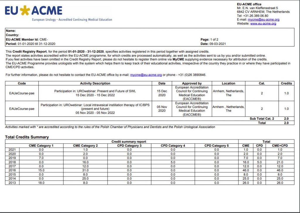 Credit Registry Report 2020
